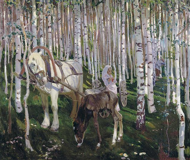 "Аркадий Александрович Рылов _""В лесу"" (1905)"
