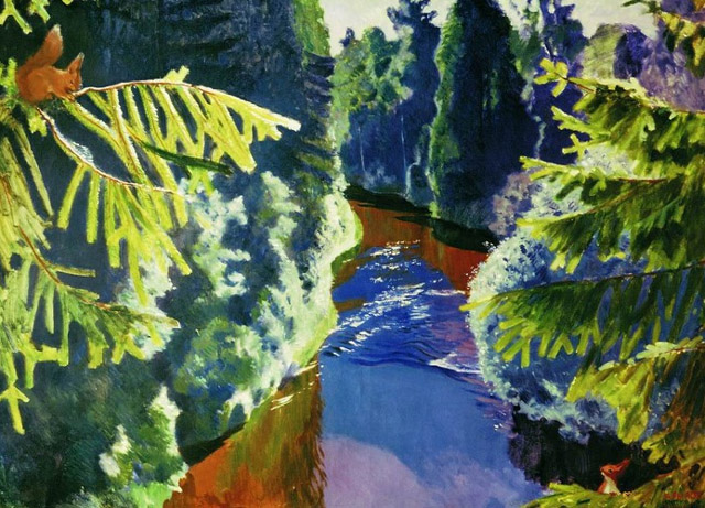 "Аркадий Александрович Рылов_""Лесная река"" (1929)"