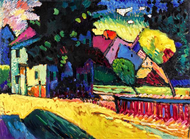 Василий Кандинский, «Мурнау. Пейзаж с зеленым домом»,1909, фото Sotheby's