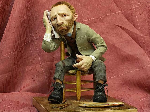 Ван Гог, кукла работы В. Волегова
