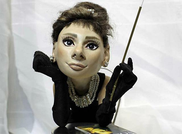 Одри Хепберн, кукла работы В. Волегова