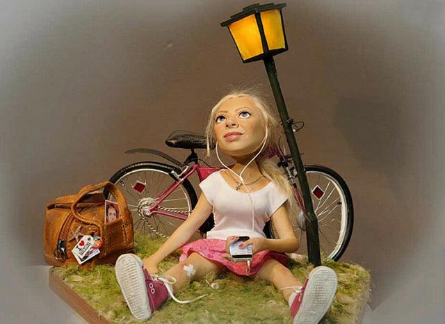 Ксения, кукла работы В. Волегова