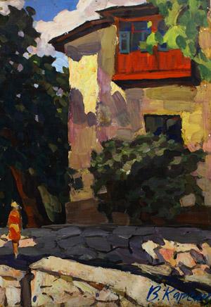 Вячеслав Карелин_Дом с балконом (1977)