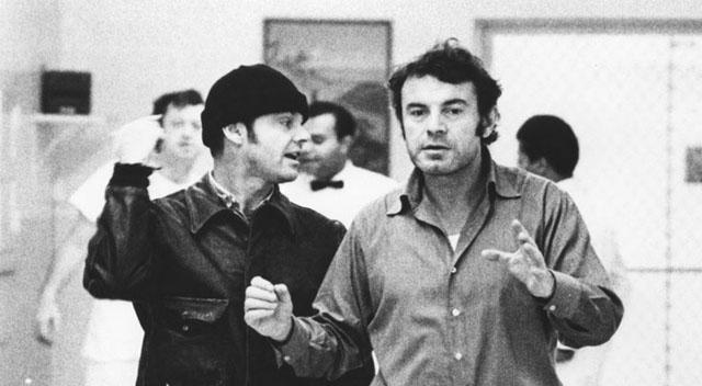 Джек Николсон и Милош Форман на съемочной площадке фильма «Пролетая над гнездом кукушки» (1975). Фото: © Getty Images / MGM / United Artists.