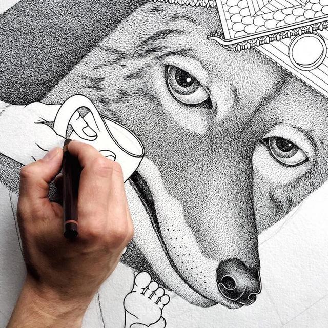 Иллюстрация белорусского художника Дмитрия Каштальяна