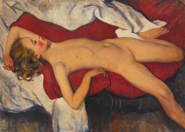 Зинаида Серебрякова - Спящая девочка (1923), фото © 2015 Sotheby's