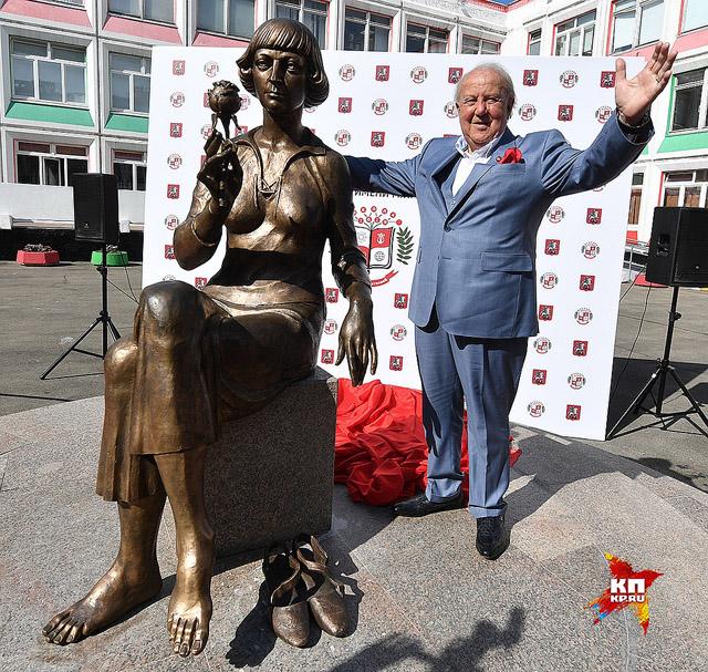 Зураб Церетели и его памятник Марине Цветаевой, фото: Владимир Веленгурин