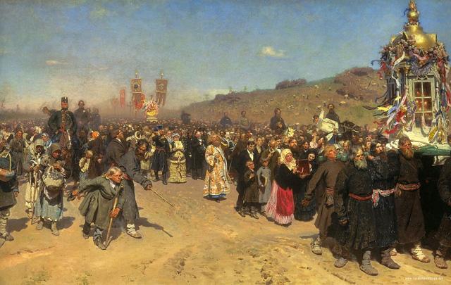 Илья Репин. «Крестный ход в Курской губернии» 1880-1883 годы