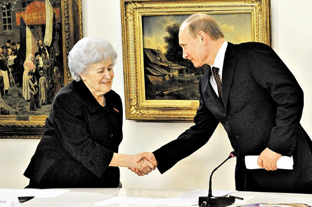 Ирина Антонова и Владимир Путин, фото Global Look Press
