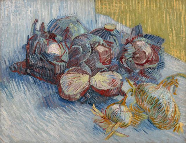 Картина Винсента Ван Гога «Красная капуста и лук» (1887), 50,2 × 64,3 см, Van Gogh Museum, Amsterdam (Vincent van Gogh Foundation).