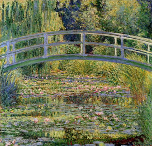 Клод Моне. Японский мостик (Пруд с водяными лилиями), 1899 г.