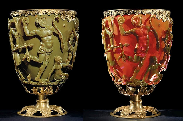 Кубок Ликурга, римское стекло, IV век н. э