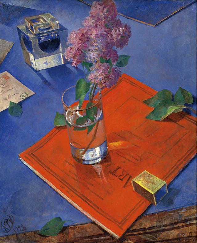 Кузьма Петров-Водкин_Натюрморт с сиренью (1928), фото- Christie's