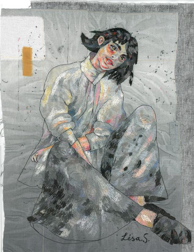 вышитая картина Лизы Смирновой (Россия)