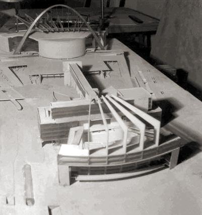 Макет неосуществленного проекта Дворца Советов в Москве