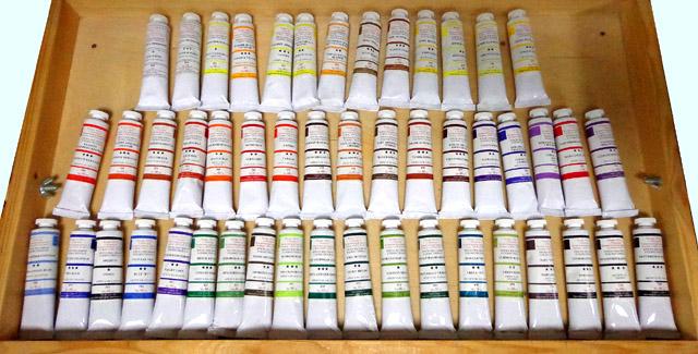 Масляные краски подольского завода, фото: www.podolsk-artc.ru
