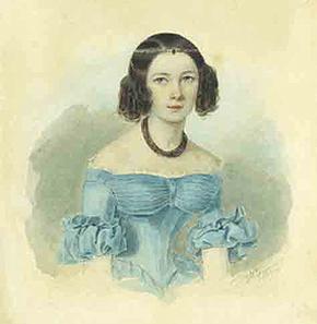 портрет молодой девушки, XIX век