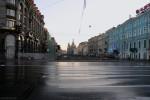 Невский проспект утром-03, фото: В. Дианов, 2005г.