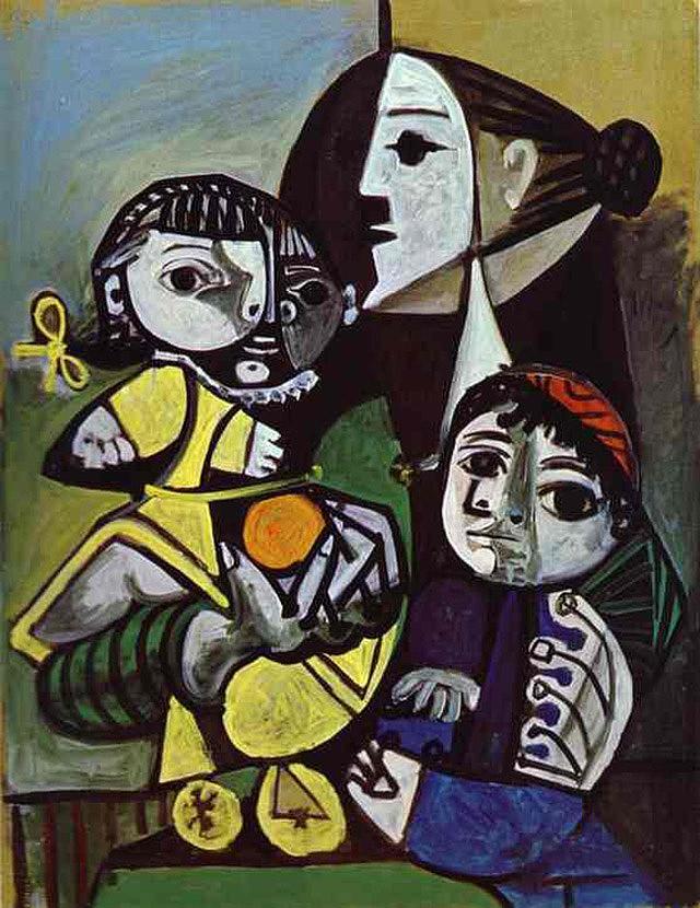 Пабло Пикассо «Франсуаза, Клод и Палома» (1951)