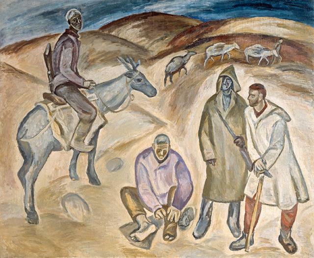 Павел Никонов «Геологи» (1962), холст, масло, 185×225 см, Фото: Государственная Третьяковская галерея.