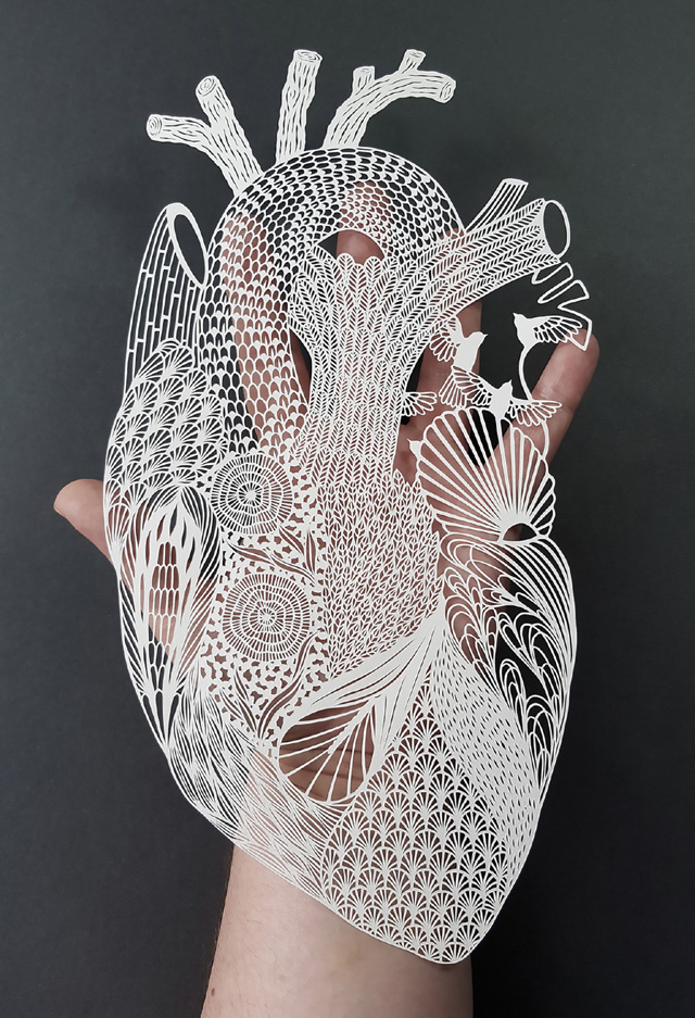 Paper-art by Pippa Dyrlaga