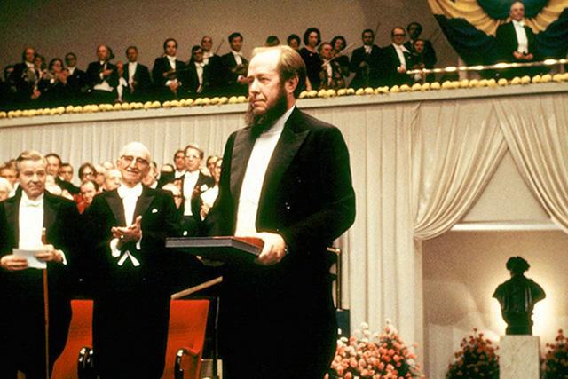 Получение А. Солженицыным Нобелевской премии в 1974 году, фото: © Getty Images