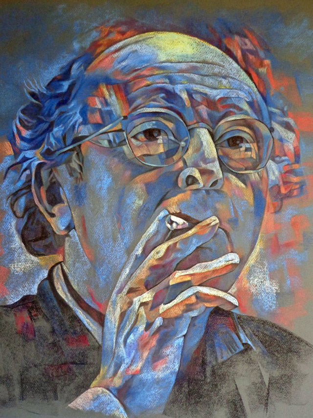 Портрет И. Бродского, худ. Галина Юганова (бумага, пастель)
