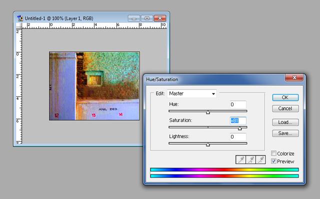 функция Saturation в Adobe Photoshop