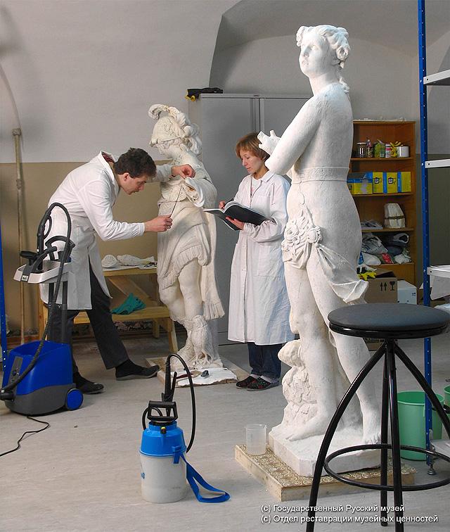 Реставрация скульптур, фото: Государственный Русский музей