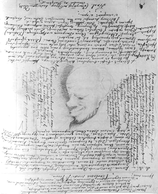 Лев Мышкин, рисунок Достоевского