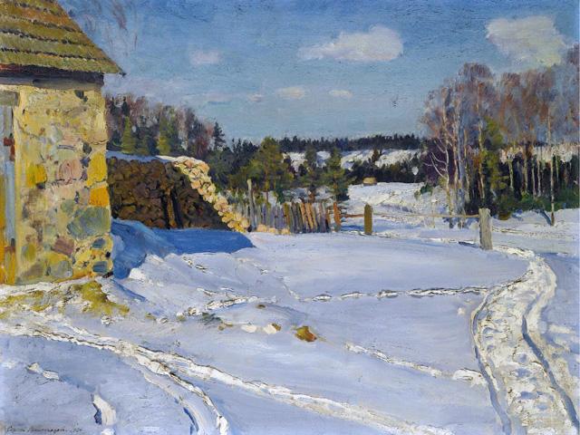 Сергей Арсеньевич Виноградов, «Зимний пейзаж» (1926)