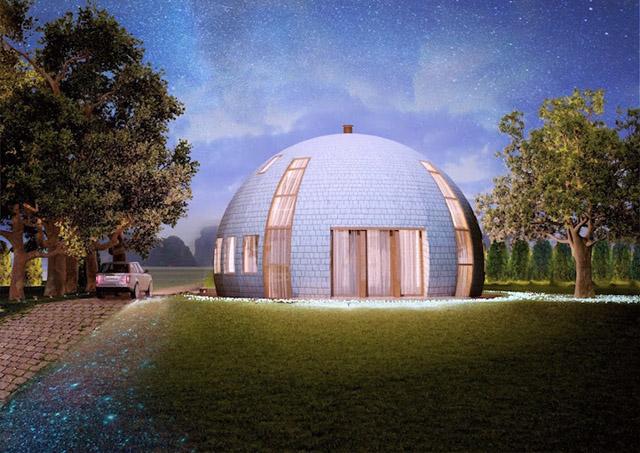 Сферический коттедж «Скайдом» (Россия)