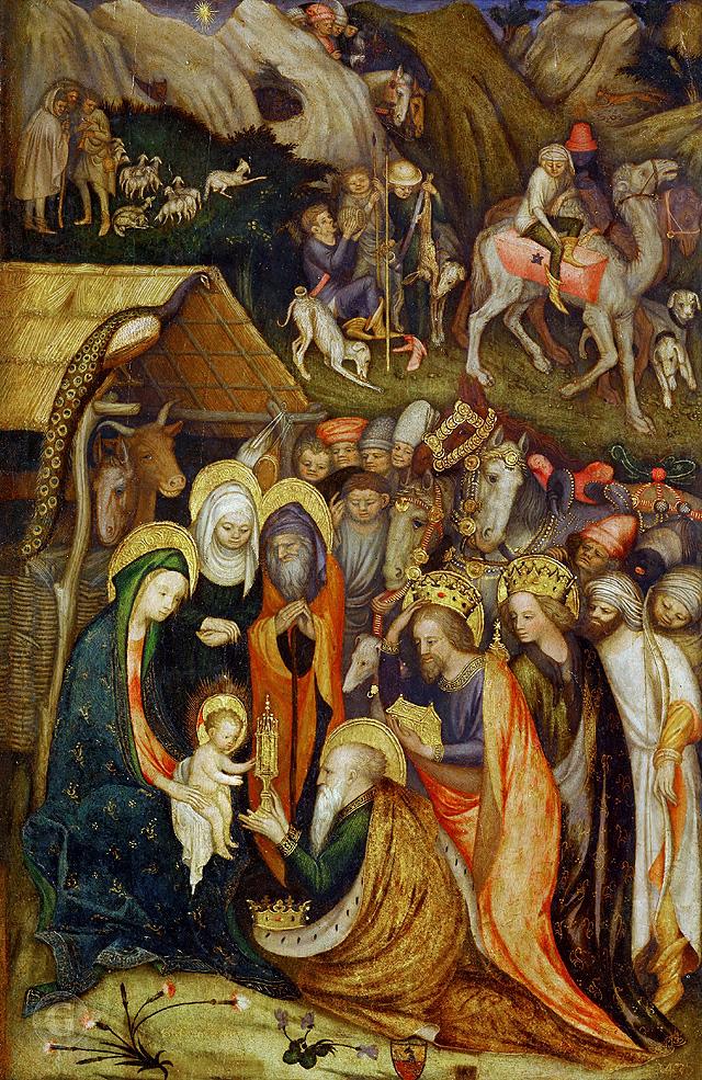 Стефано да Верона «Поклонение волхвов», (1435). Пинакотека Брера, Милан.