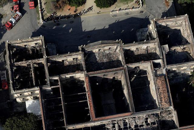 То, что осталось от бразильского музея. Фото: © Reuters