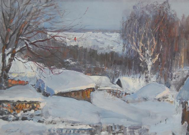 """Художник Иван Егорович Базанов """"Осколки зимы"""" (2012)"""