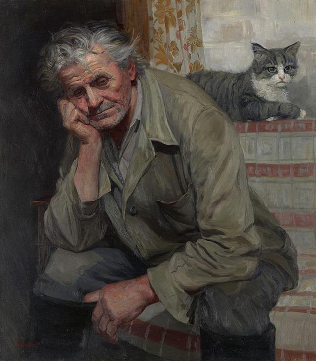 Художник Татьяна Юшманова. Портрет дяди Саши Королёва (1999)