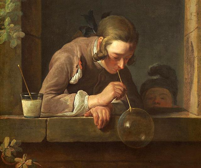 Жан-Батист Симеон Шарден, «Мыльные пузыри» (1734)