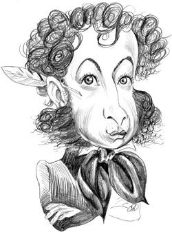 Карикатура на Пушкина