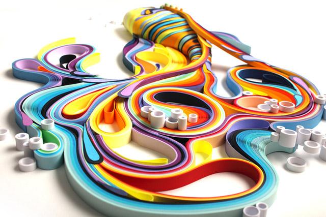 Рыбка (paper-art by Yuliya Brodsky)