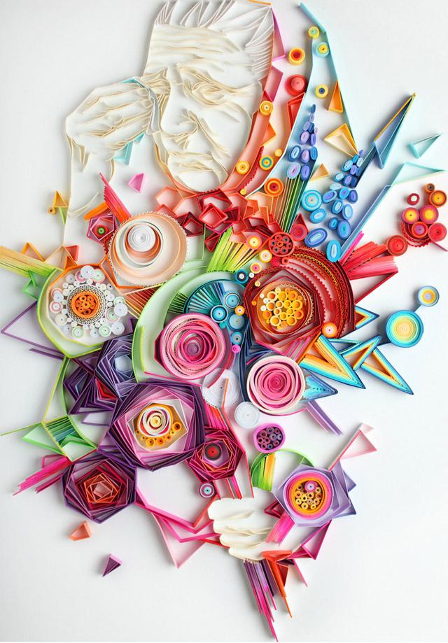 Бабушка, новая работа Юлии Бродской (цветная бумага, квиллинг)