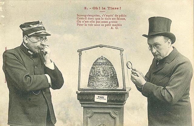 Юмористическая открытка, посвященная тиаре царя Сайтаферна. Начало 1900-х годов, © Josef Muhlenbrock