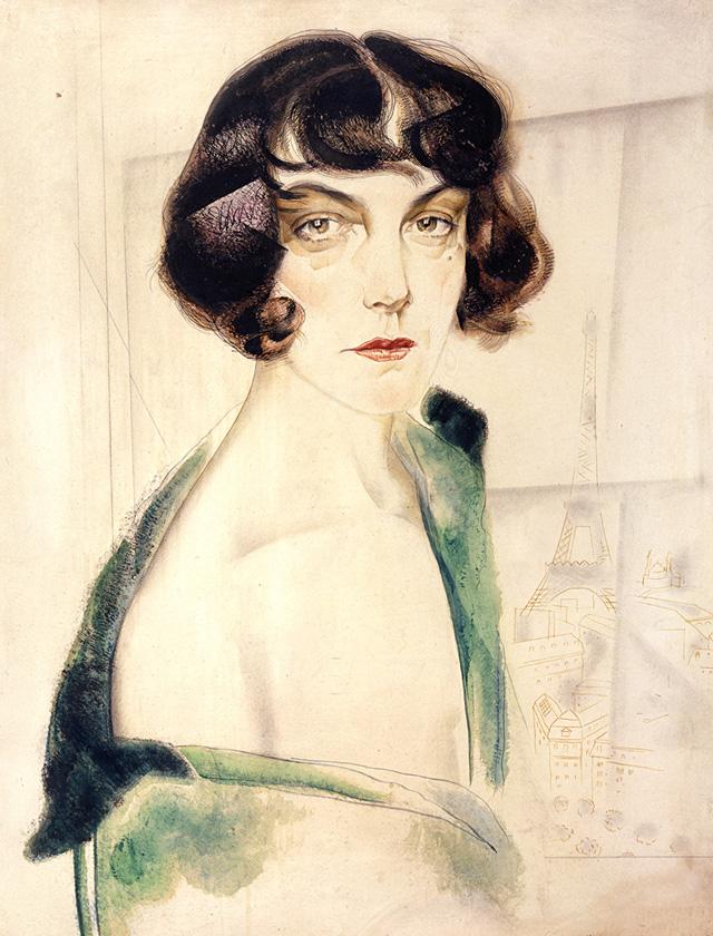 Юрий Анненков. «Портрет Марианны Зарнекау (Пистолькорс)». 1924