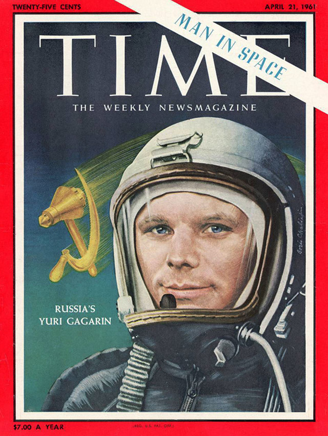 Обложка американского журнала Time (1961)
