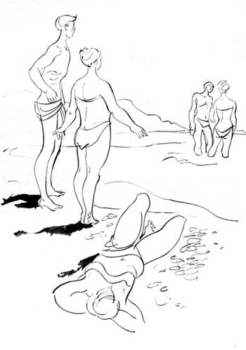 Юрий Чистяков, натурный рисунок (1986)