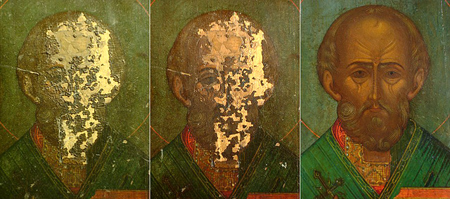 Процесс реставрация иконы, фото: gk170.ru / РИА Новости / ТАСС