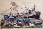 01-Станислав Никиреев - Астрахань, цветные карандаши, 1964