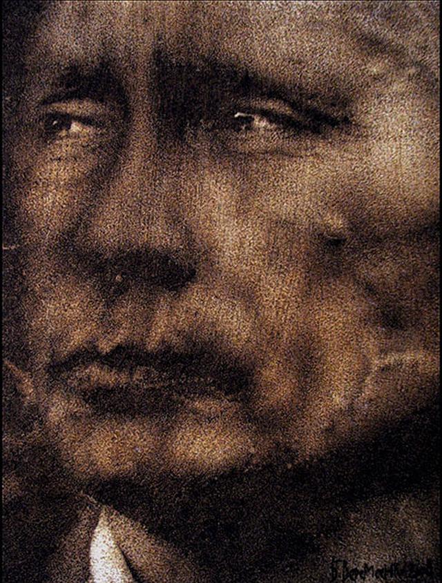 литография с Путиным
