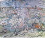 02-Станислав Никиреев - Подмосковье, цветные карандаши, 1969