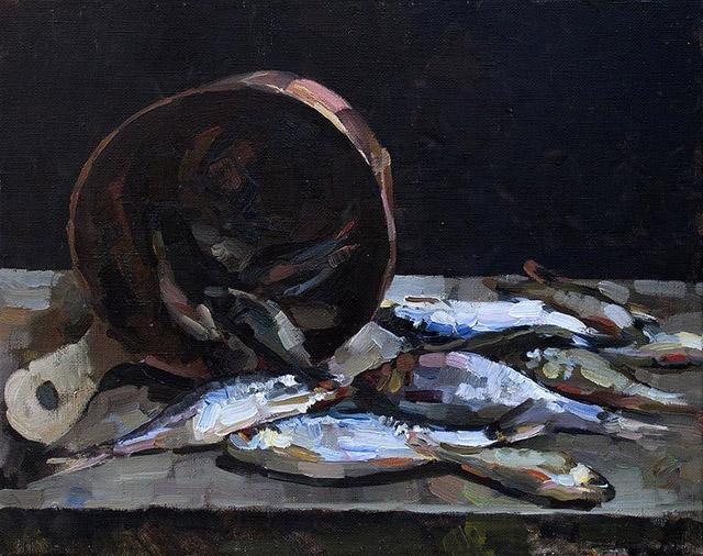 03-Евгений Яцута - Натюрморт с рыбой (2015)