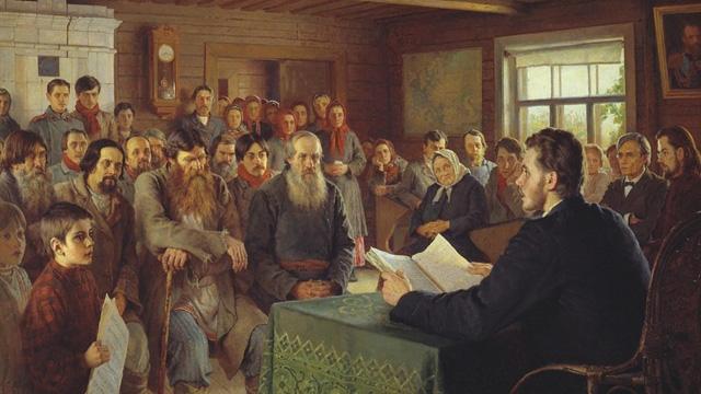 03-Н. П. Богданов-Бельский_Воскресное чтение в сельской школе. 1895
